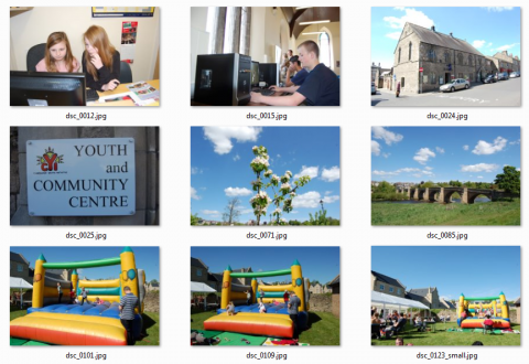 Screenshot of Corbridge Youth Initiative's photo shoot stills