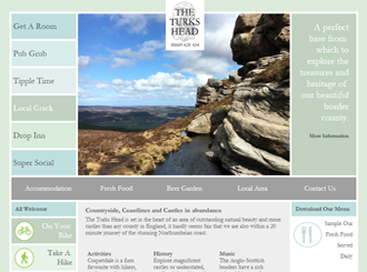 Screenshot of Turk's Head Rothbury Website